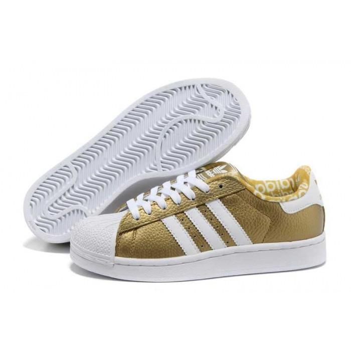 adidas superstar gold white kopen