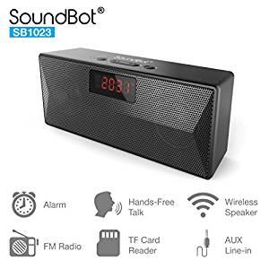 SoundBot SB1023 Bluetooth FM Radio Alarm Clock Bluetooth Mobile/Tablet Speaker Rs. 1199 -Amazon