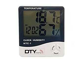 HTC-1 Temperature Humidity Time Display Meter with Alarm Clock Rs. 273 - Amazon