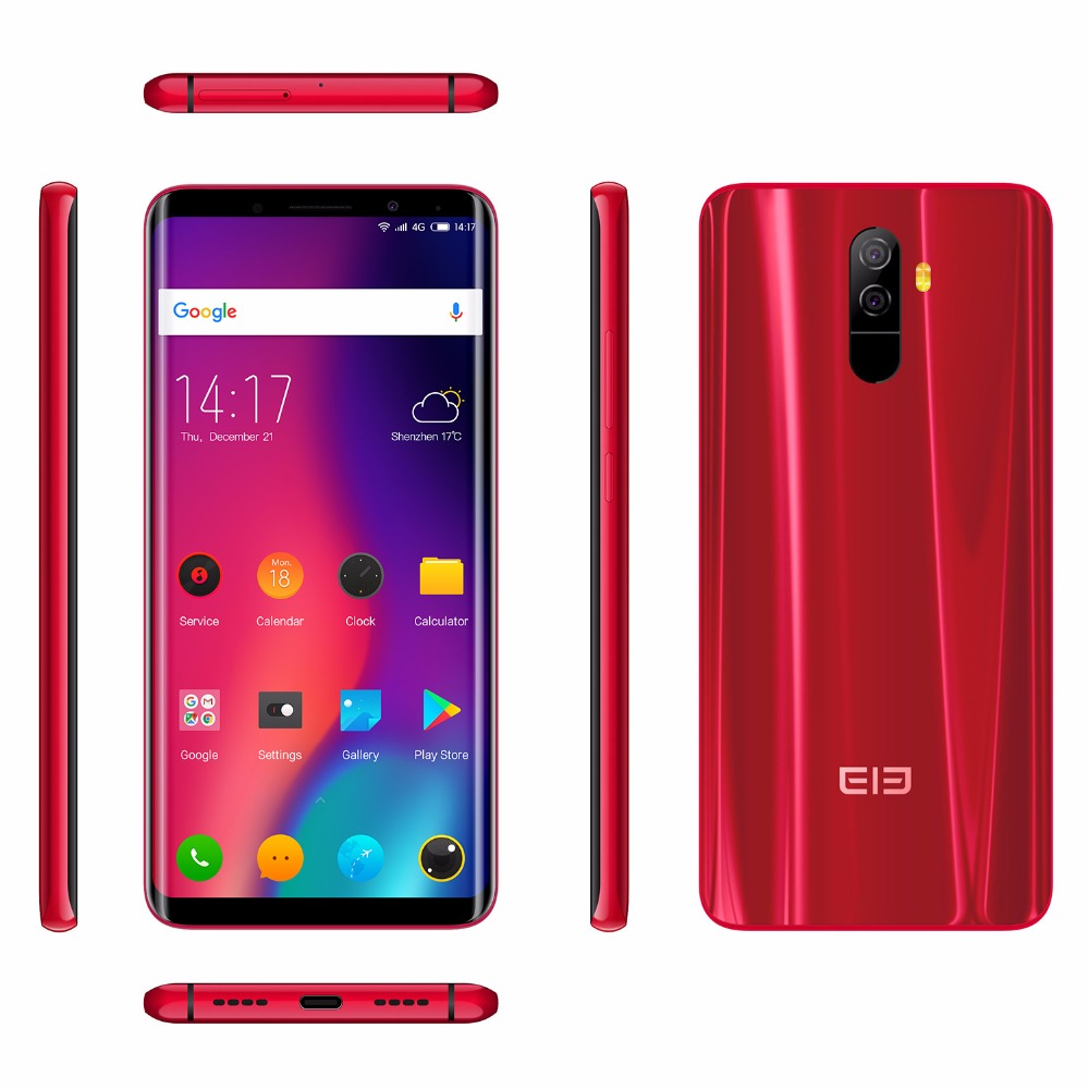 "Elephone U Pro Qualcomm Snapdragon 660 Android 8.0 Cell Phones 5.99"" Face ID Smartphone 6GB RAM 128GB ROM 3550mAh mobile Phone"