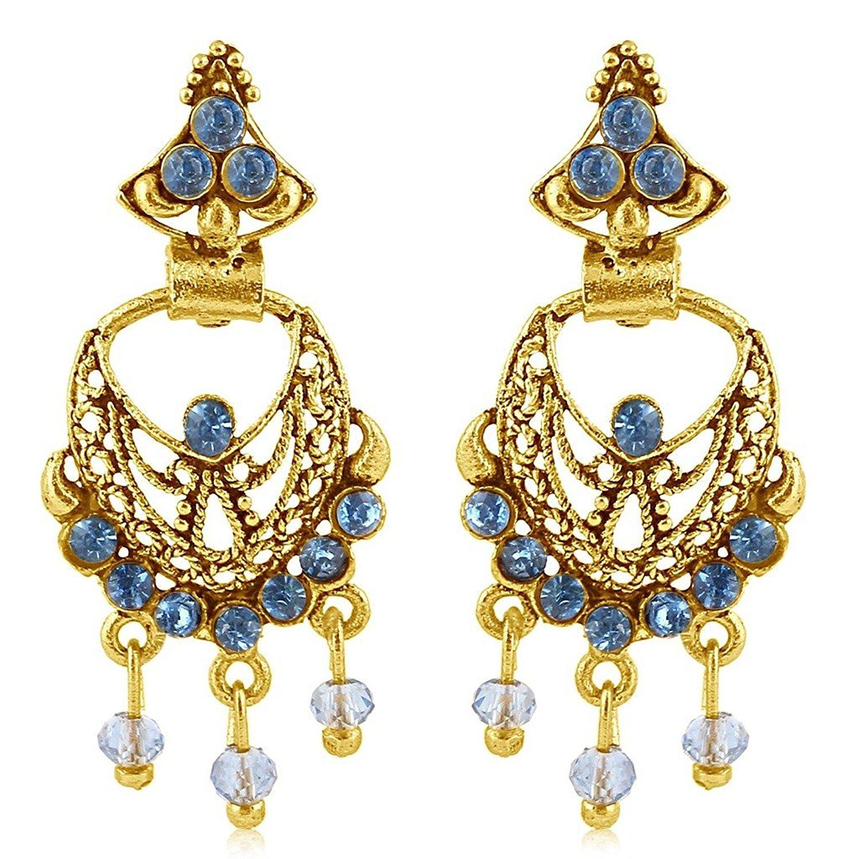 Sukkhi Copper Chand Bali Earrings for Women Rs.82 - Amazon