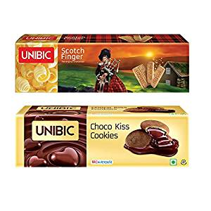 Unibic Choco Kiss and Scotch Finger, 350g Pack (2 each)- Amazon