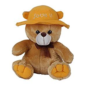 Ultra Cap Teddy with Love You, Brown (9-inch)- Amazon