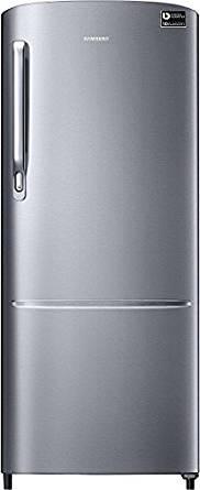 Samsung 212 L 3 Star Direct Cool Single Door Refrigerator (RR22M272ZS8, Elegant Inox, Inverter Compressor)- Amazon