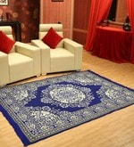 Ethnic Motif Cotton 6 x 4.5 feet Machine made Carpet by Status- Pepperfry