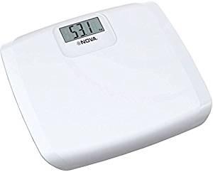 Nova BGS-1243 Ultra Lite Digital Weighing Scale(White)- Amazon