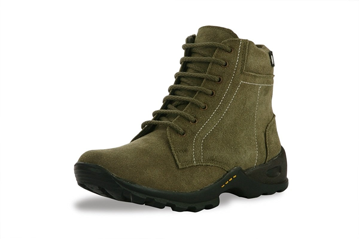 BACCA BUCCI MEN OLIVE GENUINE LEATHER BOOTS- Amazon
