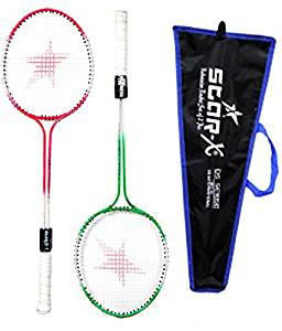 StarX Multi-shaft Steel Badminton Racquet Set, Adult G4-3 3/4-inch (Multicolor)- Amazon