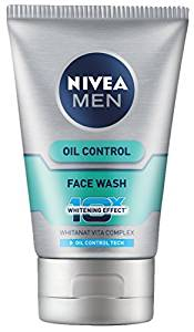 Nivea Men Oil Control Face Wash (10X whitening), 100gm- Amazon