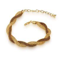 Spargz Stylish Stardust Design Gold Mesh Net Crystal Stone Filling Lobster Claw Bracelets AIBR_057- Amazon