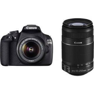 Canon Eos 1200D With 18-55Mm + 55-250Mm Lens,Free8GB CARD + CARRY CASE + 2 yr Canon India Warranty