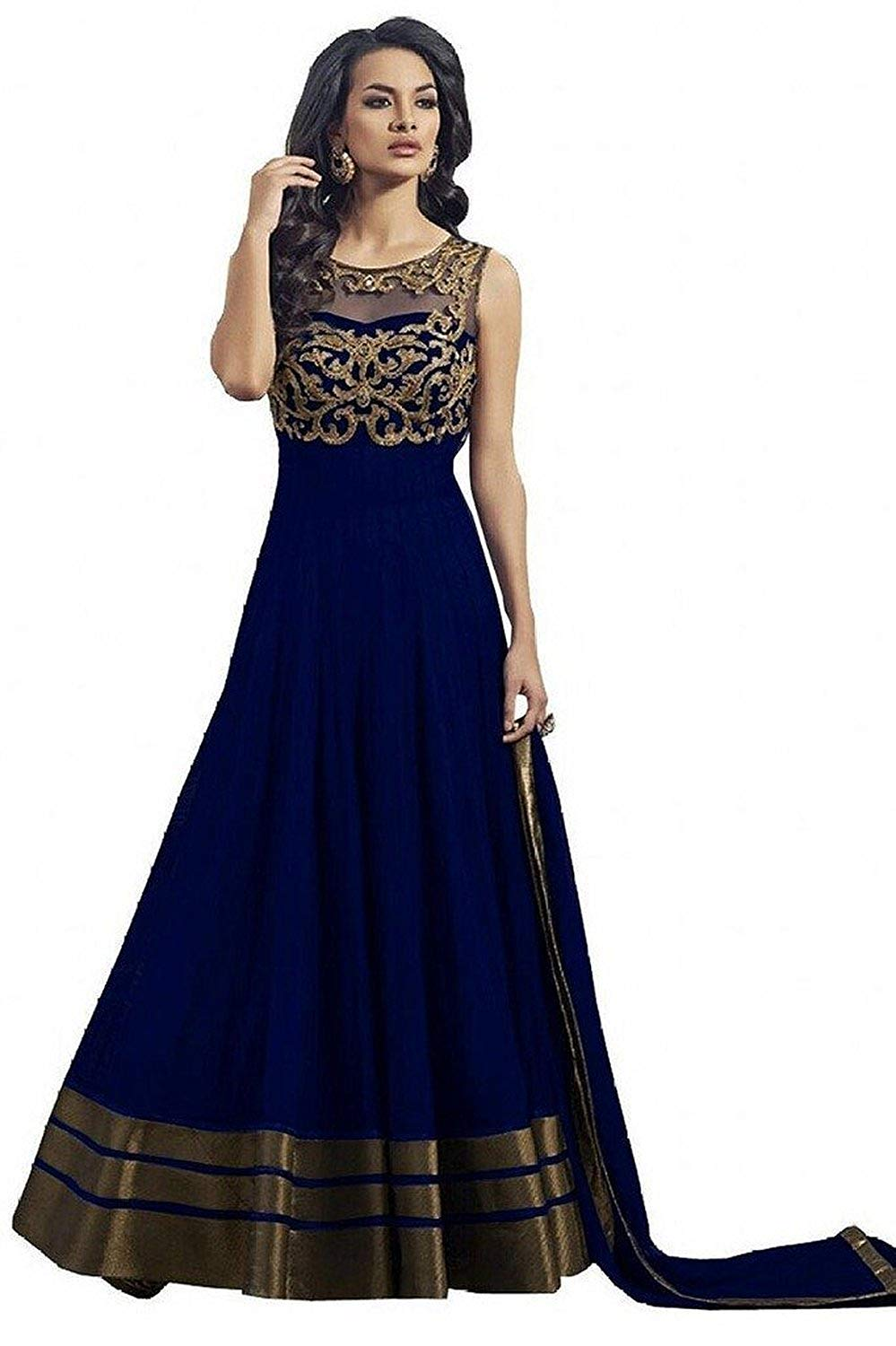 Market Magic World Women's Georgette Semi Stitched Ethnic Wear Lehenga Choli (lehengas- Amazon