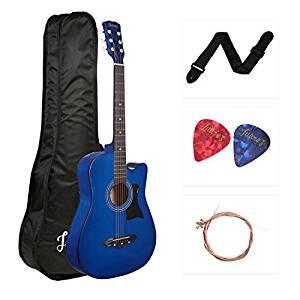 JUAREZ JRZ38C Right Handed Acoustic Guitar (Blue, 6 Strings)- Amazon