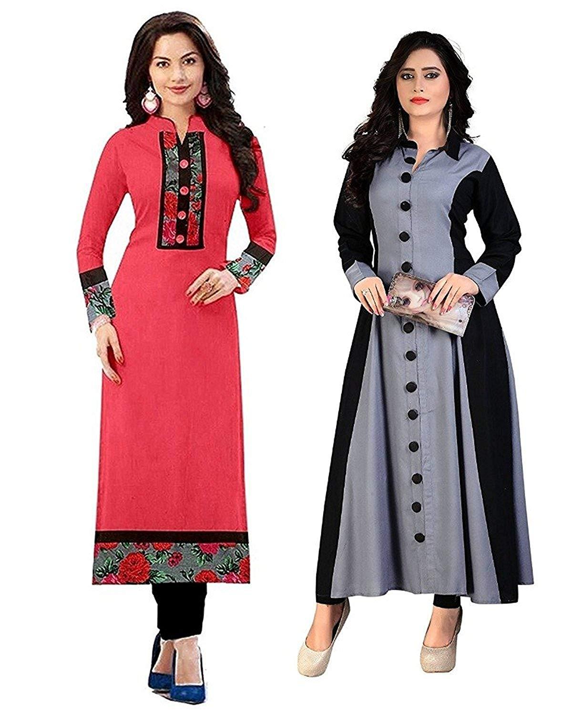 Pramukh Fashion New Semistichead pack of 2 kurtis combo- Amazon