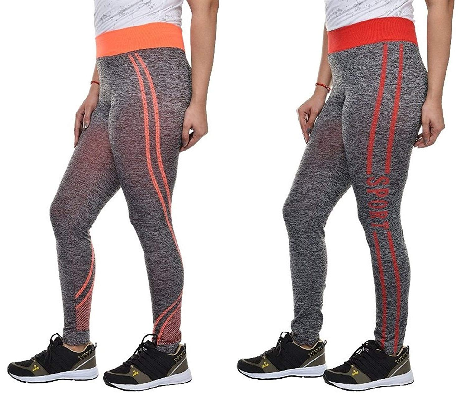Golazo Girl's Stretchable High Waist Compression Yoga Fitness Tummy Tuck Sports and Gym Running Pant/Leggings- Amazon