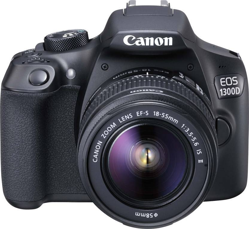 Canon EOS 1300D Kit (EF-S 18 - 55 IS II) DSLR Camera  (Black) With Free 16 GB Memory Card and Bag
