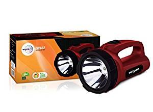 Wipro Emerald Rechargeable Emergency Light (Red)- Amazon