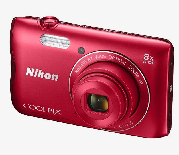 Nikon Coolpix A300 Point & Shoot Camera with Bluetooth and HDMI Connection (Red)