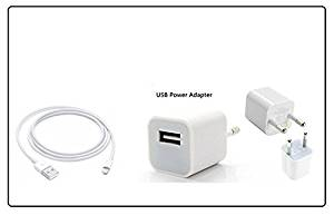 Immaculate Power Adapter/Charger Fast Charging Adapter with USB Cable Compatible For Apple iPhone 5/5s/6/6s/7/7 Plus- Amazon