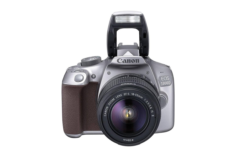 Canon EOS 1300D 18MP Digital SLR Camera (Grey) + 18-55mm IS II Kit Lens + 16GB Memory Card + Carrying Bag