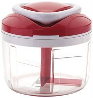 Ganesh Easy Pull Smart Plastic Chopper, 650ml/125mm, Red- Amazon