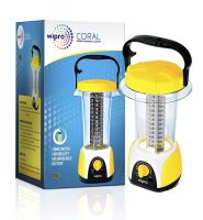 Wipro Coral Rechargeable Emergency Light (Yellow)- Amazon
