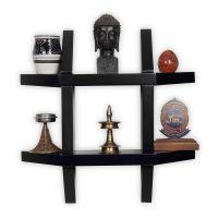 Forzza Aldo Wall Shelf (Black)- Amazon