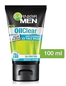 Garnier Men Oil Clear deep cleansing Facewash, 100g- Amazon