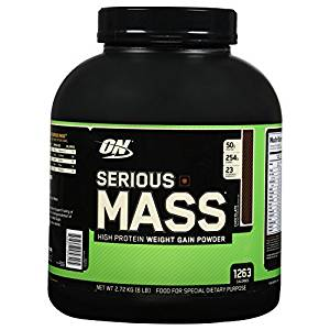 Optimum Nutrition (ON) Serious Mass Weight Gainer Powder - 6 lbs, 2.72 kg (Chocolate)- Amazon