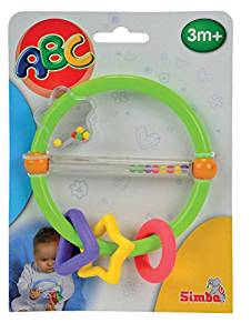 Simba Baby - Clown Rattle W/Teether (Color and Design may vary)- Amazon