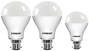 Eveready Base B22 14W Pack of 2 + 9W LED Bulbs (Cool Day Light)- Amazon