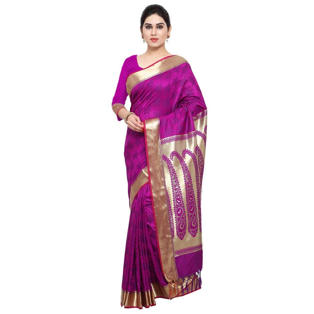 Varkala 100% Silk Sarees with Blouse Piece- Amazon