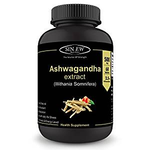 Sinew Nutrition Ashwagandha General Wellness Tablets 500mg (60 No.) | Anxiety Relief, Stress Support & Mood Enhancer Natural Supplement- Amazon