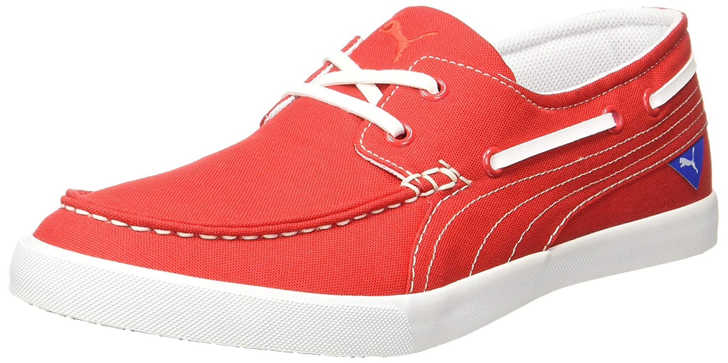 Puma Yacht CVS IDP Boat Shoes For Men  (Red)- Amazon
