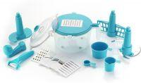 Konvex 10-in-1 Kitchen Box Blue Plastic Detachable Dough Maker- Flipkart