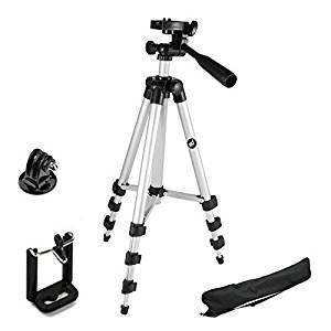 Teconica Tripod 3111 Portable & Foldable Mobile Camera Tripod with Mobile Clip Holder- Amazon
