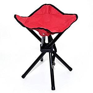 Saiyam Foldable Stool Portable Travel Chair Four-Leg Stool- Amazon