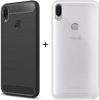 Fashionury Back Cover For Asus Zenfone Max Pro M1(Combo Offer Hybrid and Transparent, Silicon, Rubber)- Flipkart