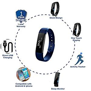 JSB Cardio Max HF110 Fitness Band Watch For iPhone & Android- Amazon