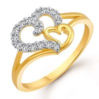 [LD] Meenaz American Diamond Gold Plated Jewellery Finger Rings For Girls And Women -401(10)- Amazon