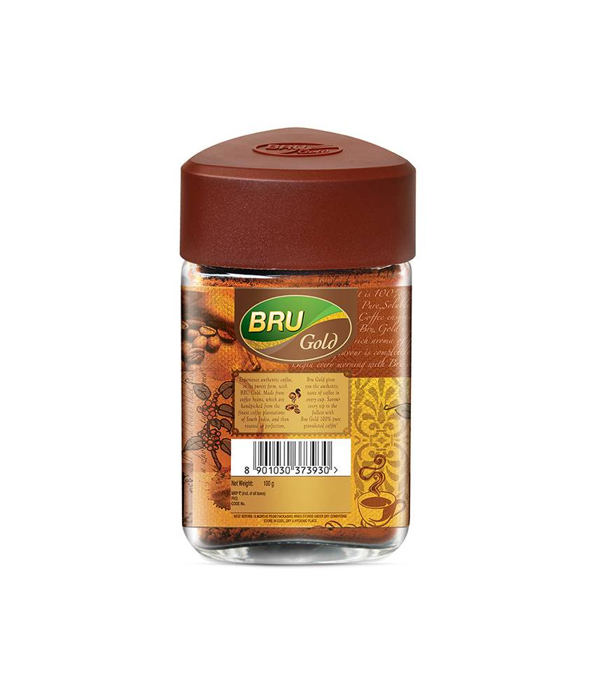 BRU Gold Instant Coffee 100 g 100% Pure Coffee
