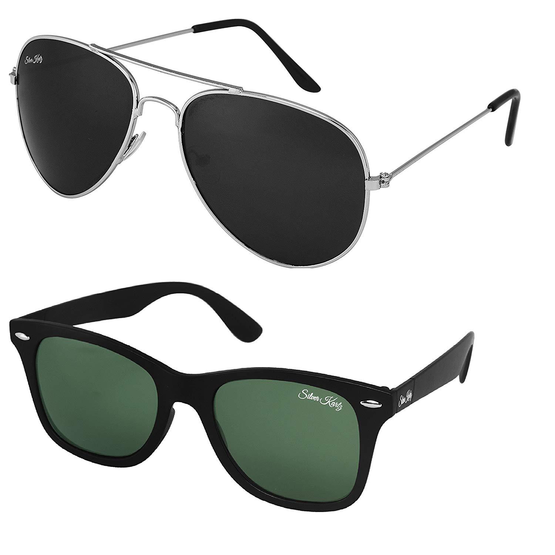 [LD] Silver Kartz Premium look exclusive sunglasses combo collection cm127- Amazon