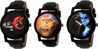 Kajaru Kjr-1001 Mahadev Set of 3 Analog Watch - For Men- Flipkart