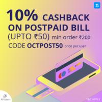 Niki - 10% cashback upto 50 on postpaid/prepaid/Landline/DTH recharges and 5%...