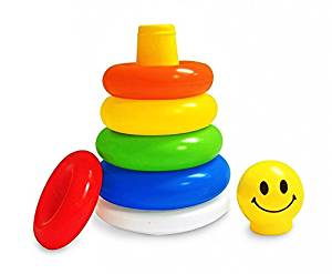 First Smile Junior Smiley Stacking Multicolour 5 Rings- Amazon