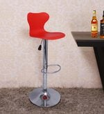 Apple Bar Stool in Red Colour by SGS Industries- Pepperfry