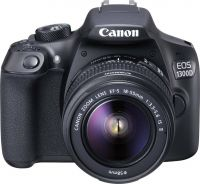 Canon EOS 1300D DSLR Camera Body with Single Lens: EF-S 18-55 IS II (16 GB SD Card + Carry Case)(Black)- Flipkart