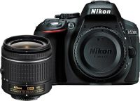 Nikon D5300 DSLR Camera Body with Single Lens: AF-P DX NIKKOR 18-55 mm f/3.5-5.6G VR Kit (16 GB SD Card + Camera Bag)(Black)- Flipkart