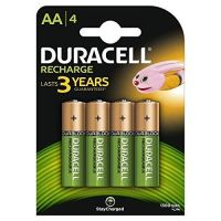 Duracell Plus 5000174 AA Rechargeable Batteries 1300 mAh (Pack of 4, Green)- Amazon