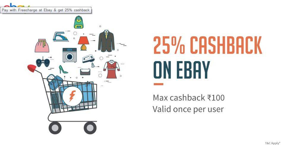FreeCharge Payments Now Accepted on eBay India